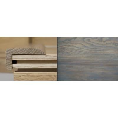 Titanium Grey Stained Stair Nose Profile Soild Hardwood 3m