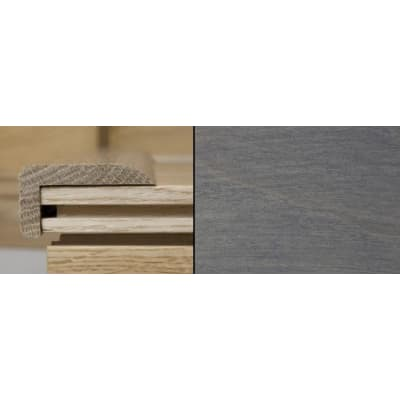 Silver Grey Stained Stair Nose Profile Soild Hardwood 1m