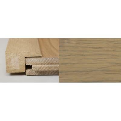 Rustic Grey Stained Square Edge Soild Hardwood Flooring Profile 3m