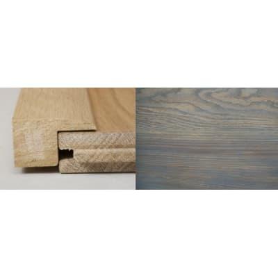 Titanium Grey Stained Square Edge Soild Hardwood Flooring Profile 1m