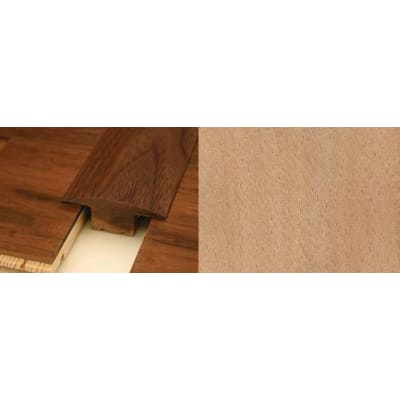 Beech T-Bar Profile Soild Hardwood 2.4m