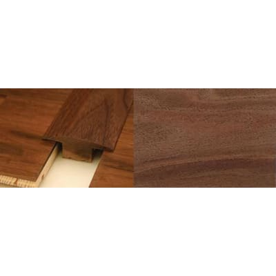 Walnut T-Bar Profile Soild Hardwood 2.4m