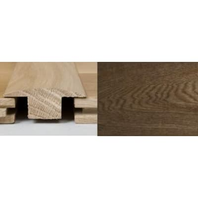 Smoked Oak T-Bar Profile Soild Hardwood 1m