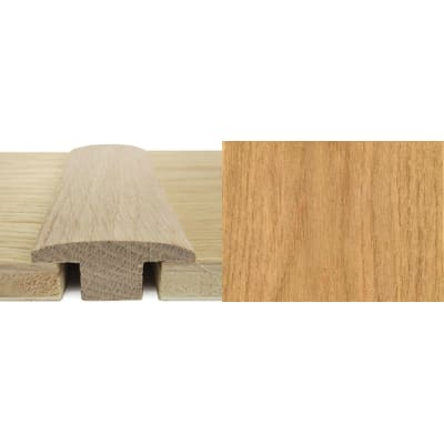 Oak T-Bar Profile Soild Hardwood 15mm Rebate 0.9m