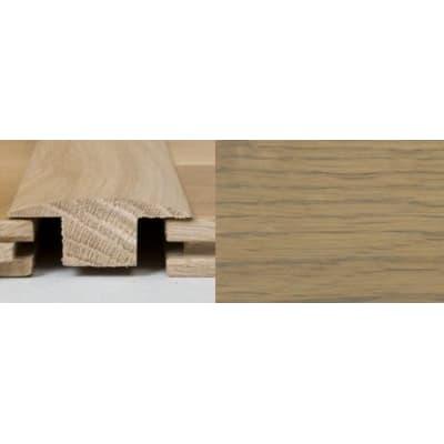 Rustic Grey Stained T-Bar Profile Soild Hardwood 1m