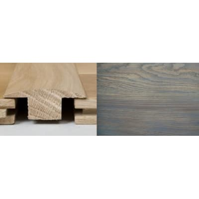 Titanium Grey Stained T-Bar Profile Soild Hardwood 1m