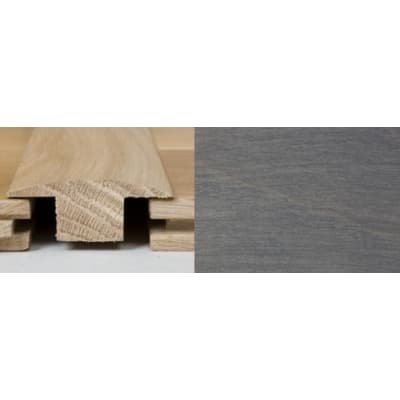 Silver Grey Stained T-Bar Profile Soild Hardwood 2m
