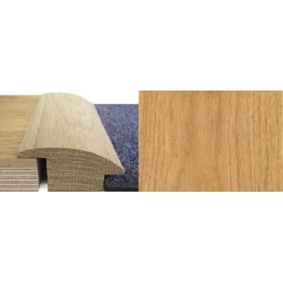 Oak Wood to Carpet Profile Soild Hardwood 20mm Rebate 0.9m