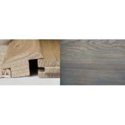Titanium Grey Stained Wood to Carpet Profile Soild Hardwood 3m