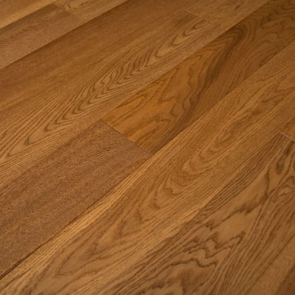 Golden Hickory Stained Oak Hand Scraped Engineered Hardwood Flooring