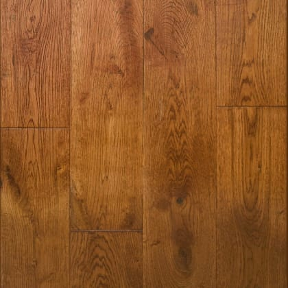 Golden Barley Stained Oak Subtle Hand-Scraped 150mm Hardwood Flooring