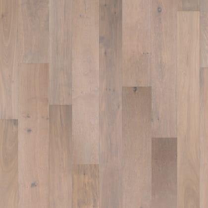 Amersfoort Smoked White Rustic Brushed Oiled Oak Multi-Width Engineered Hardwood Flooring