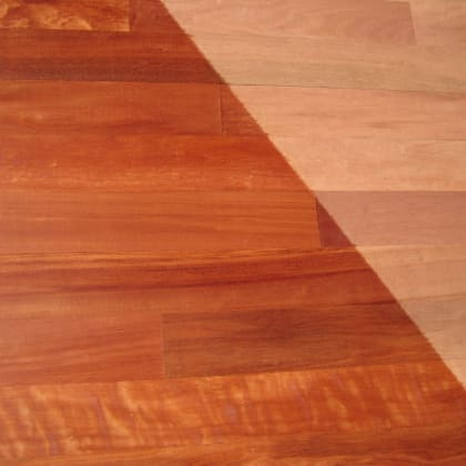 Moabi (African Pearwood) Lacquered Solid Hardwood Flooring