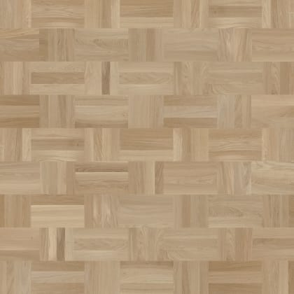 Dansk Stained Oak Drie-Vier Dutch Weave- Parquet Flooring