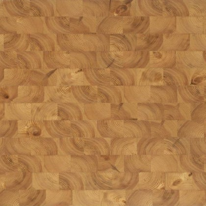 Pine End Grain Natural Block Parquet Flooring