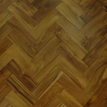 Teak Prime 280mm Engineered Parquet Block - Herringbone