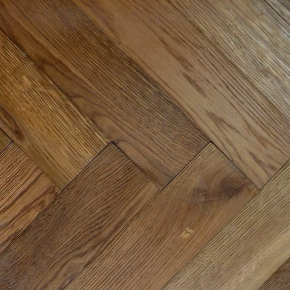 Smoked Oak Prime 280mm Engineered Parquet Block - Herringbone