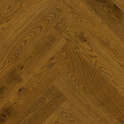Antique Stained Oak Herringbone Rustic Engineered Parquet Click Block
