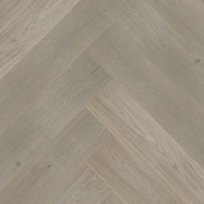 Alpine Grey Stained Oak Herringbone Prime Engineered Parquet Click Block