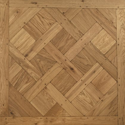 Versailles Tumbled & Dowels Mosaic Design Oak Panel Parquet Flooring