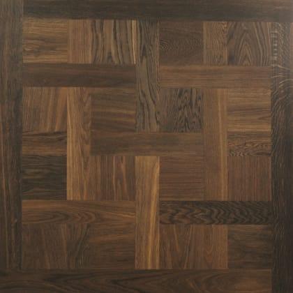 Chantilly Fumed Mosaic Design Oak Panel Parquet Flooring