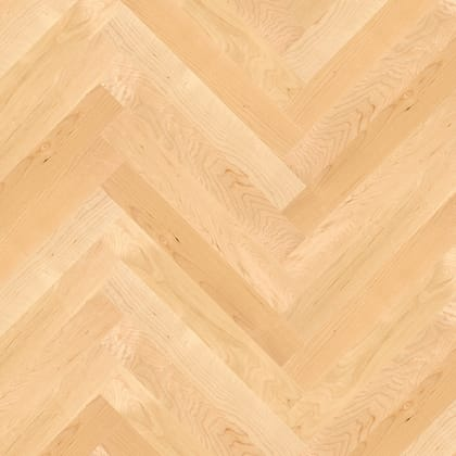 Canadian Maple Herringbone Parquet Lacquered Hardwood Floor