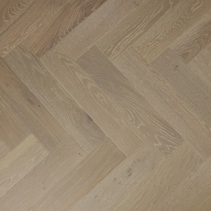 Grey Natural Oak Oiled Brushed Herringbone Engineered Parquet Block