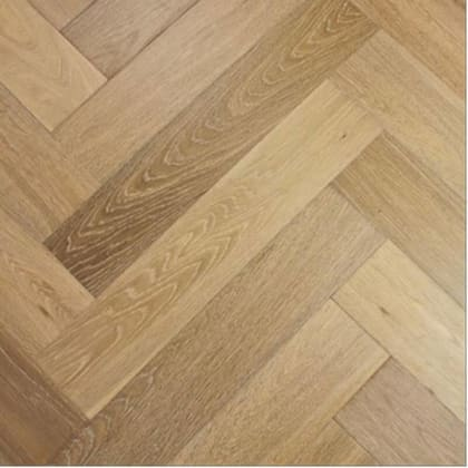 Smoked Natural Oak UV-Oiled Herringbone Engineered Parquet Block