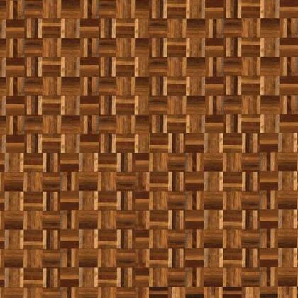 Rhodesian Teak Brown & White 5 Finger Mosaic Parquet Flooring