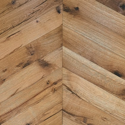 Limehouse Oak Natural Oiled Reclaimed Chevron Engineered Hardwood Flooring