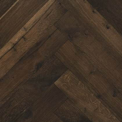 Whitechapel Heavy Smoked Oak Natural Oiled Reclaimed Herringbone Engineered Hardwood Flooring