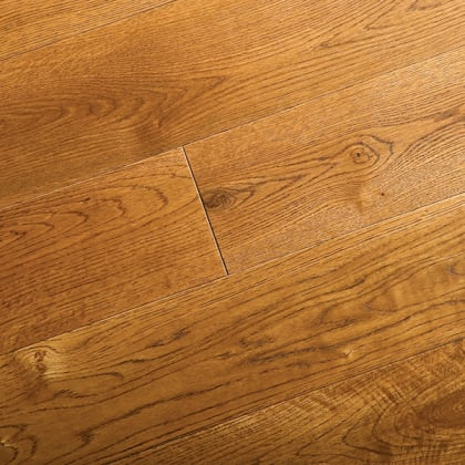 Golden Oak Brushed UV Oiled Engineered Hardwood Flooring