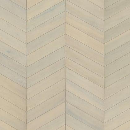 White Oiled Oak Chevron Parquet Flooring