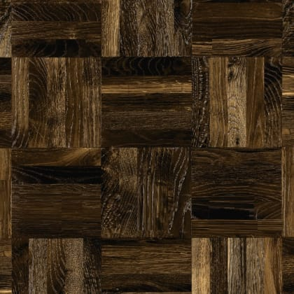 Oak Fumed 5 Finger Mosaic Parquet