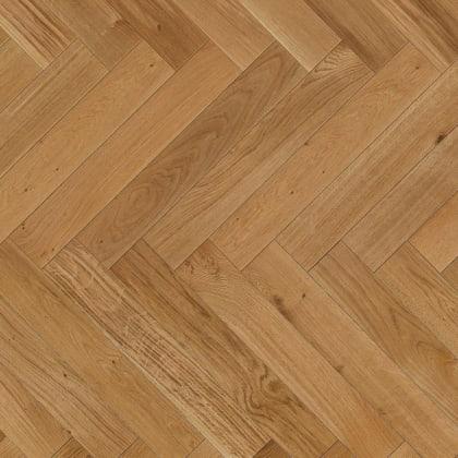 Oak Herringbone Lacquered Parquet Flooring