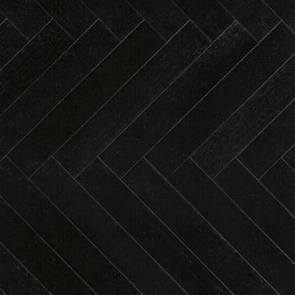 Black Oak Herringbone Lacquered Parquet Flooring