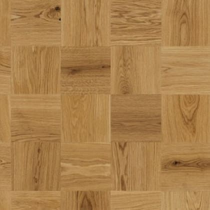 Large Cube Mosaic Natural Oak Oiled Parquet Flooring