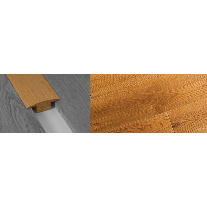 Golden Rustic Stained Solid Oak T-Bar 18mm Rebate 2.7 Meter T-Bar