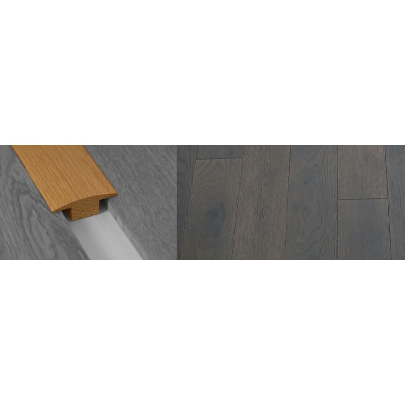 Gtey Stained Solid Oak T-Bar 18mm Rebate 2.7 Meter T-Bar