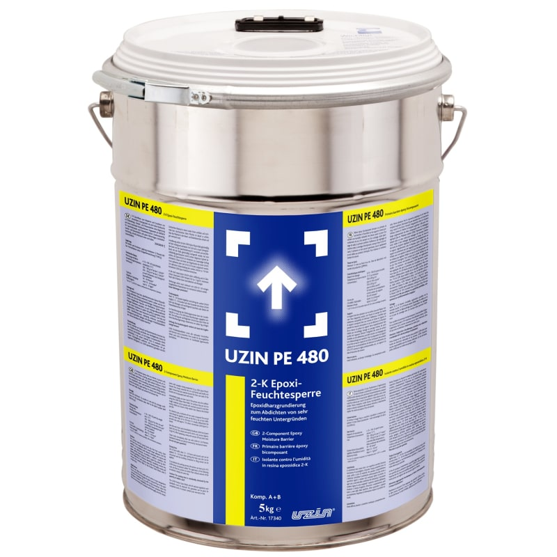 UZIN PE480 2 Component Epoxy DPM Primer 5kg Liquid Damp Proof Membrane