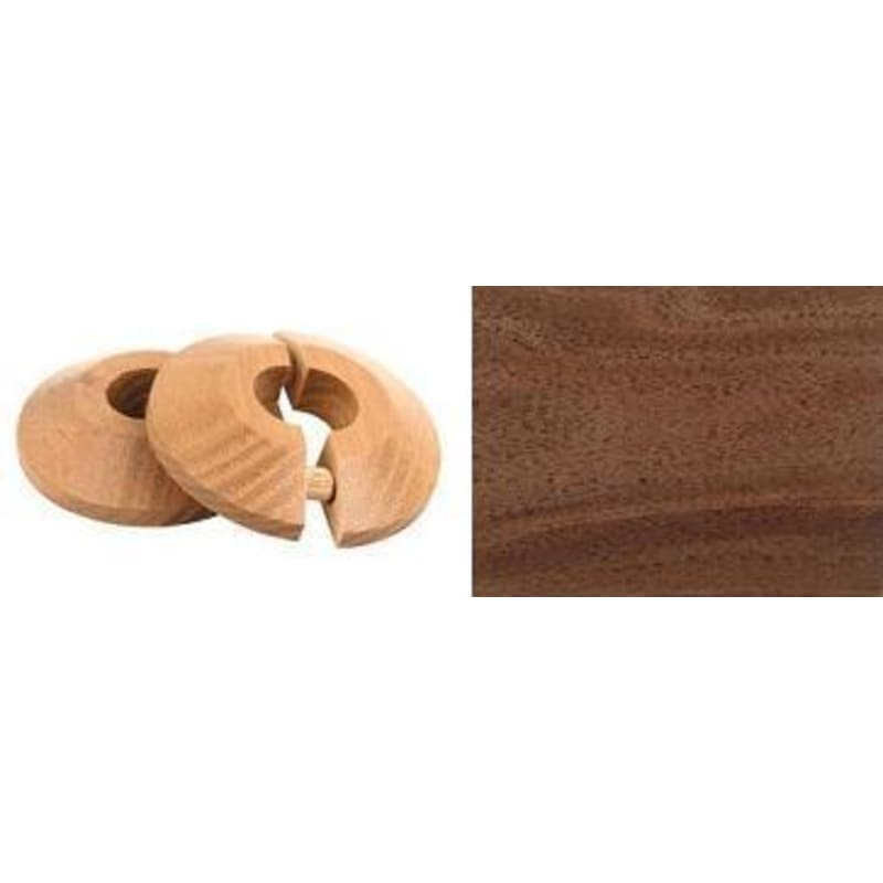 Walnut Pipe Rose Pack of 2 Finishing Touch