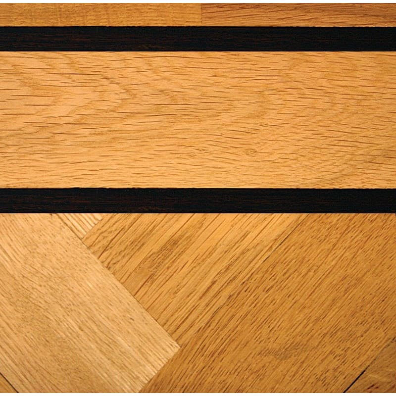 Double Wenge & Oak Parquet Solid 43mm Strip Finishing Touch