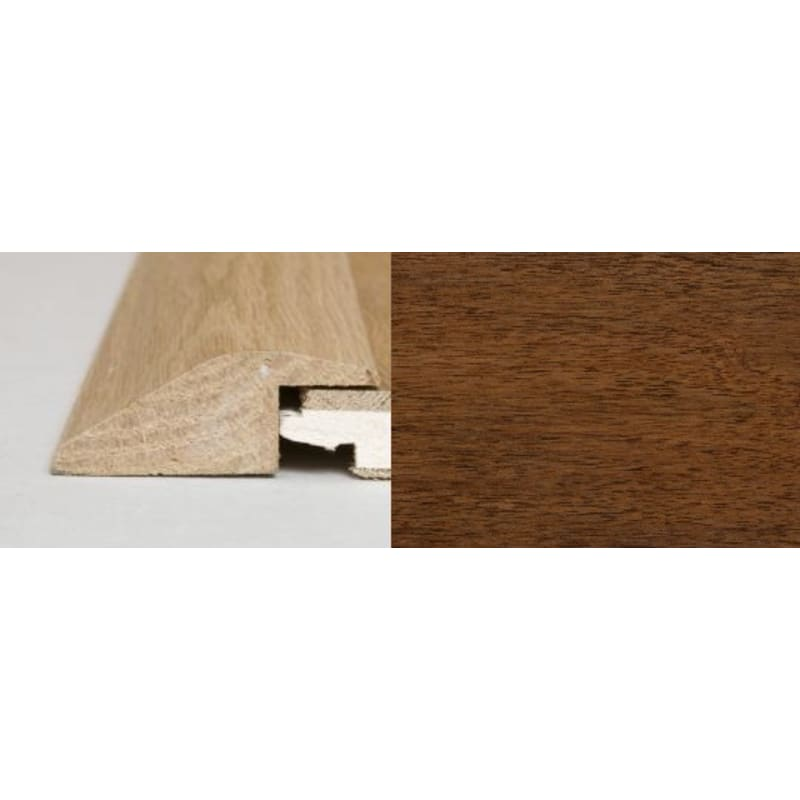 Light Walnut Ramp Bar 2 metre Ramp Profile