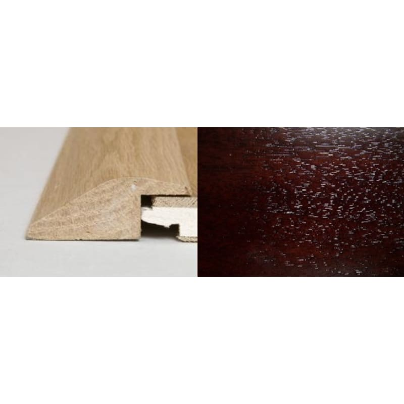 Dark Walnut Ramp Bar  2 metre Ramp Profile