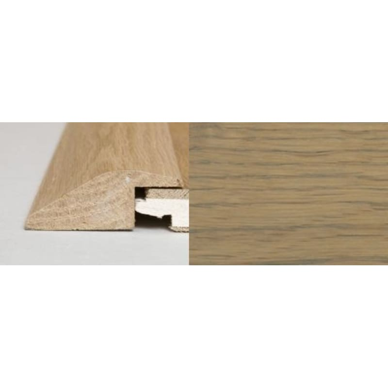 Rustic Grey Stained Oak Ramp Bar 1 metre Ramp Profile