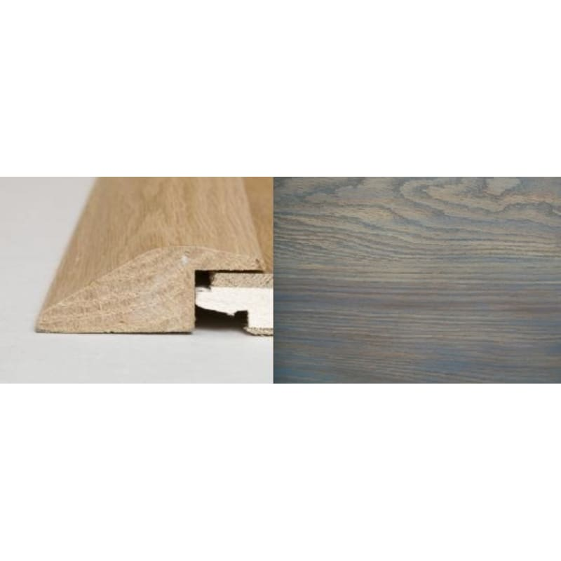 Titanium Grey Stained Oak Ramp Bar 1 metre Ramp Profile