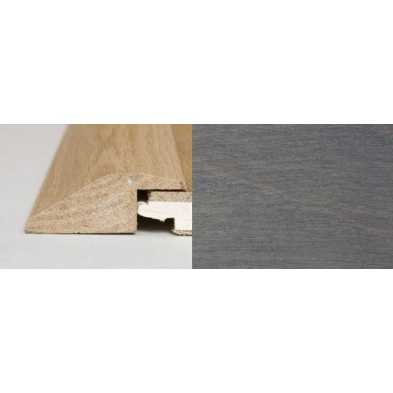 Silver Grey Stained Oak Ramp Bar 1 metre Ramp Profile