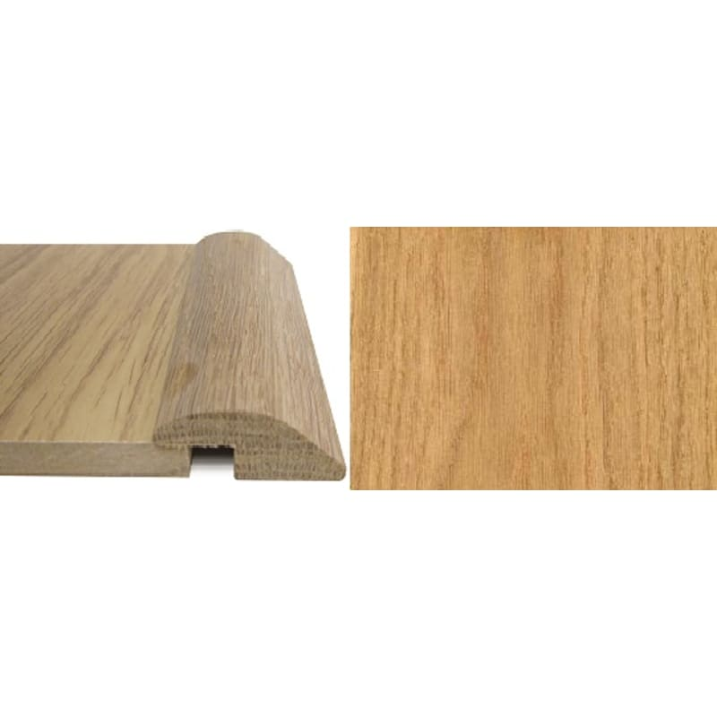 Oak Ramp Bar 7mm Rebate Solid 0.9 metre Ramp Profile