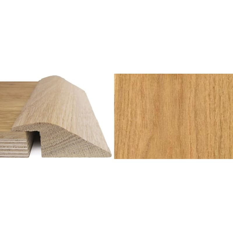Oak Ramp Bar 20mm Rebate Solid 2.7 metre Ramp Profile