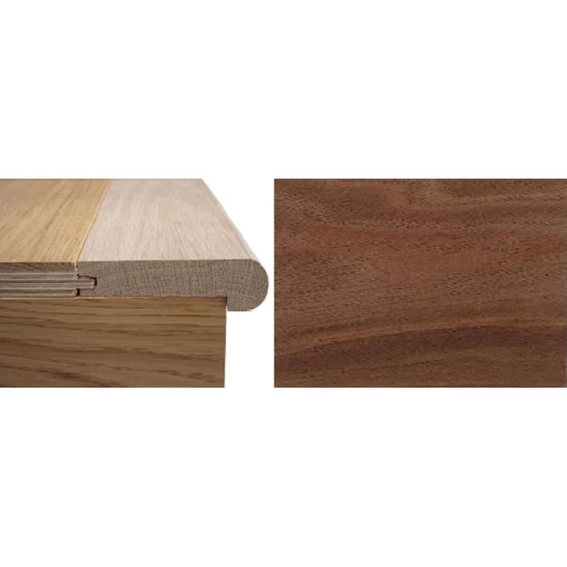 Solid Walnut Stair Nosing 20mm Rebate 0.9 Metre Stair Profiles